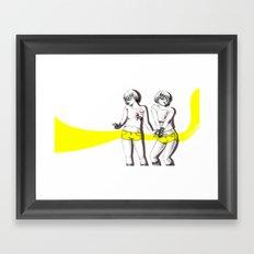 Twopose Framed Art Print