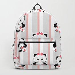 Little kittens. The pattern for children. Backpack