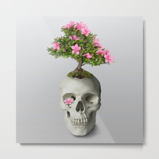 Bonsai Skull Metal Print