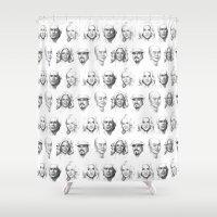 dexter Shower Curtains featuring Dexter Art by Olechka