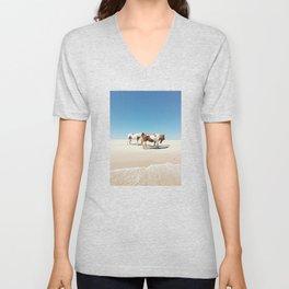 Summer Shore Horses Unisex V-Neck