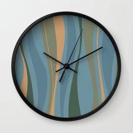 Blueprint Wavy Pattern 2 Wall Clock