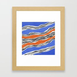 Modern irregular Stripes 07 Framed Art Print