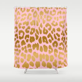 Leopard (Pink & Gold) Shower Curtain