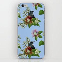 Tui in Pohutukawa Flowers iPhone Skin