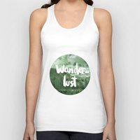 wanderlust Tank Tops featuring Wanderlust by Mariam Tronchoni