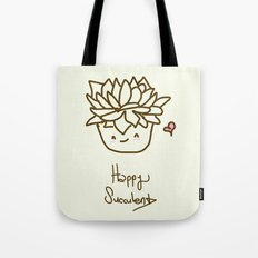 Happy Succulent Tote Bag