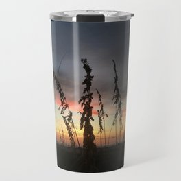 Beachgrass at Sunset Travel Mug