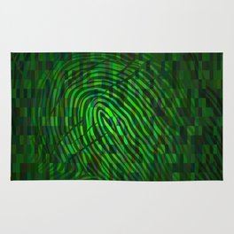 Silhouette of fingerprint Rug