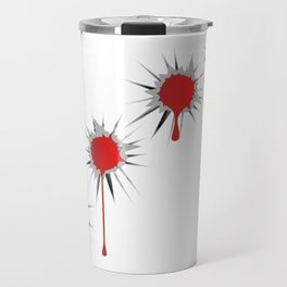 Blooded Bullet Holes Travel Mug