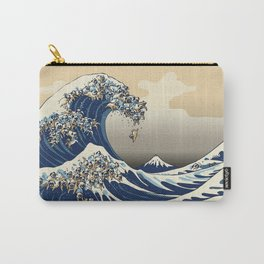 The Great Wave of Pugs Vanilla Sky Carry-All Pouch