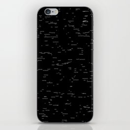 Void of meanings iPhone Skin