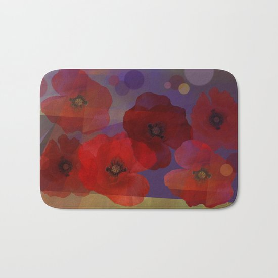 Summer promise with red poppies Bath Mat