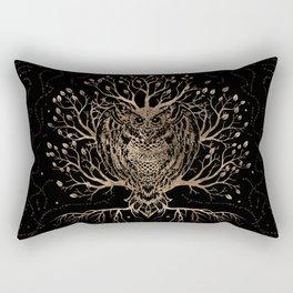 The Golden Owl Tree Rectangular Pillow
