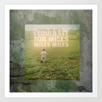 miles davis Art Prints featuring Miles by Gerald Proctor