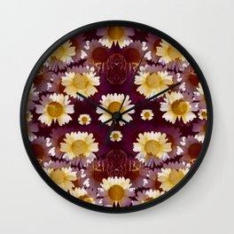 Celtic and Floral Pattern Wall Clock