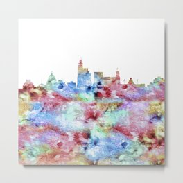Jackson City Skyline Metal Print