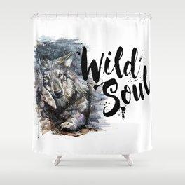 Wolf Wild Soul Shower Curtain
