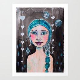 Midnight whimsy Art Print