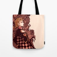 jjba Tote Bags featuring golden wind by vvisti
