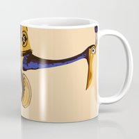 kevin russ Mugs featuring UP: Russell & Kevin by joshuahillustration