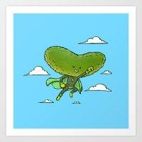 The Super Pickle Art Print