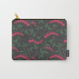 Retro. Floral pattern on a grey background . Carry-All Pouch