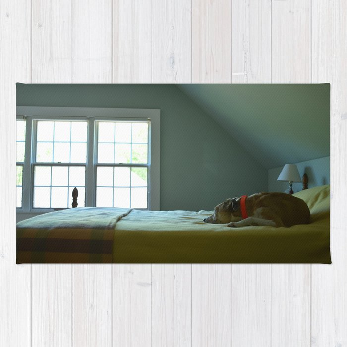 Dog Sleeping On Bed Rug By Victoriasager Society6