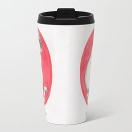 Haruki Murakami's Kafka on the Shore // Illustration of a Siamese Cat with a Fish in her Mouth in Pe Travel Mug