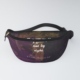 2 Corinthians 5:7 Bible Verse Quote About Faith Fanny Pack