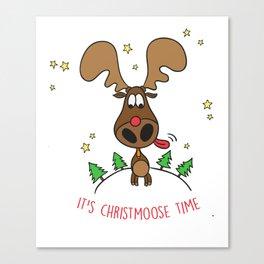 Christmoose Time Canvas Print
