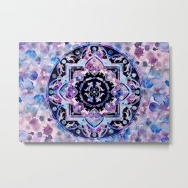 Magic ink splash unicorn universe mandala Metal Print