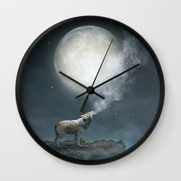 The Light of Starry Dreams Wall Clock