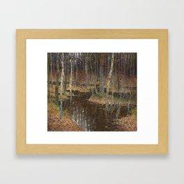 Autumn flood Framed Art Print