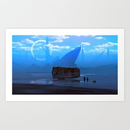 Iron sea Art Print