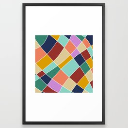 Abstract Retro Painting Framed Art Print
