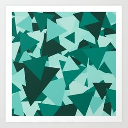 Points of Green Art Print