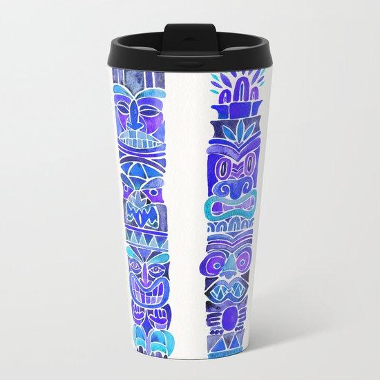 Tiki Totems – Indigo Palette Metal Travel Mug