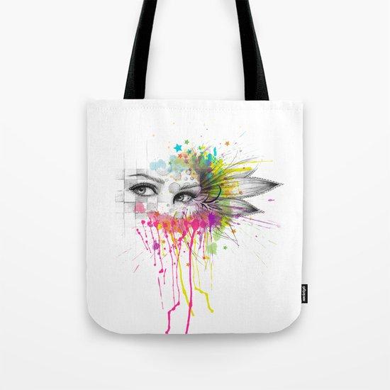 Beautiful Flower Eyes Tote Bag
