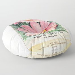 Cosmos Seed Packet Floor Pillow