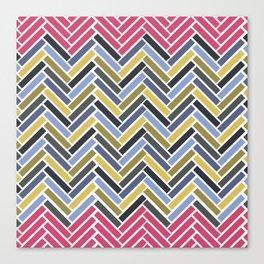 Colorful herringbone geometric pattern Canvas Print