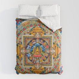 Buddhist Mandala Gold Tangka Wisdom Comforters