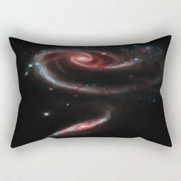 Rose of Galaxies Rectangular Pillow