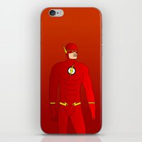 the flash iPhone & iPod Skins featuring Flash by pablosiano