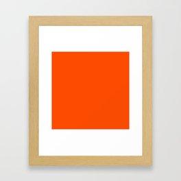 Denver Football Team Orange Solid Mix and Match Colors Framed Art Print