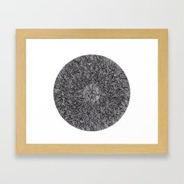 A Moon Shaped Framed Art Print