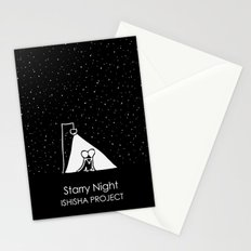Starry Night by ISHISHA PROJECT Stationery Cards