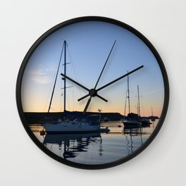 Tranquil Moorings In The Isles Of Scilly. Wall Clock