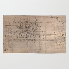 Vintage Map of Fayetteville North Carolina (1822) Rug