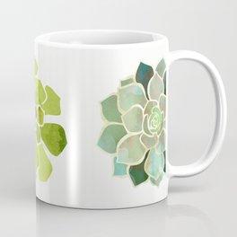 Spring Succulents. Vintage nature illustration art. Coffee Mug